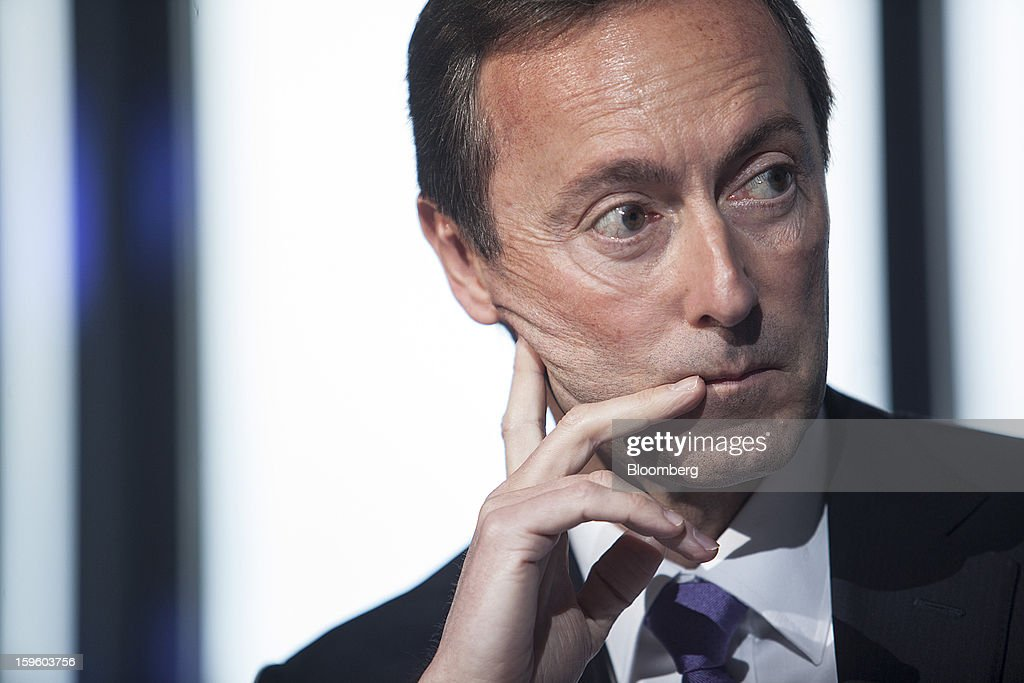 Fabrice Bregier, chief executive officer of Airbus SAS, pauses during a news conference in Colomiers, France, on Thursday, Jan. 17, 2013. Bregier said he's sticking with a goal of flying the A350 jet mid-year and that it represents 'a lower risk approach' than the Boeing Co. 787 grounded by U.S. regulators yesterday. Photographer: Balint Porneczi/Bloomberg via Getty Images