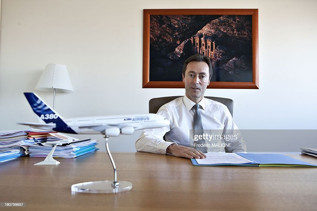 Fabrice Bregier, chief executive officer of Airbus SAS, poses for a portrait session on January 7, 2013 in Toulouse, France.