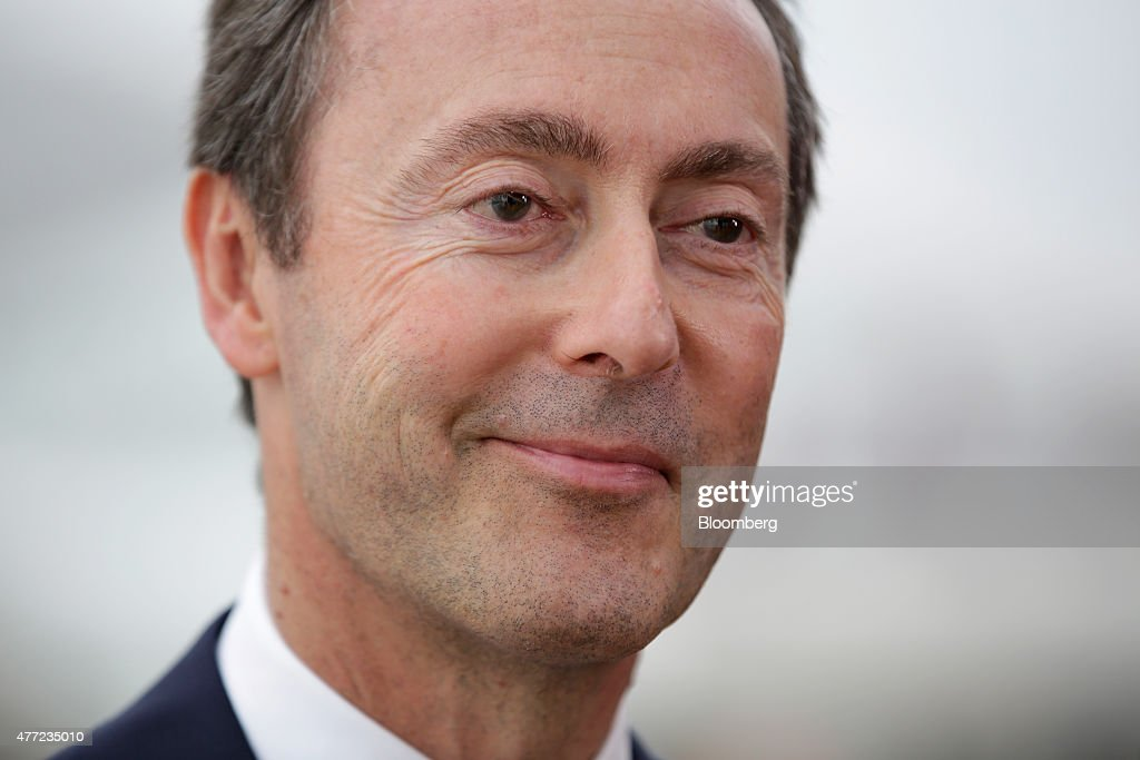 Fabrice Bregier, chief executive officer of Airbus SAS, smiles during a Bloomberg Television interview on the opening day of the 51st International Paris Air Show in Paris, France, on Monday, June 15, 2015. The 51st International Paris Air Show is the world's largest aviation and space industry exhibition and takes place at Le Bourget airport June 15 - 21. Photographer: Jason Alden/Bloomberg via Getty Images