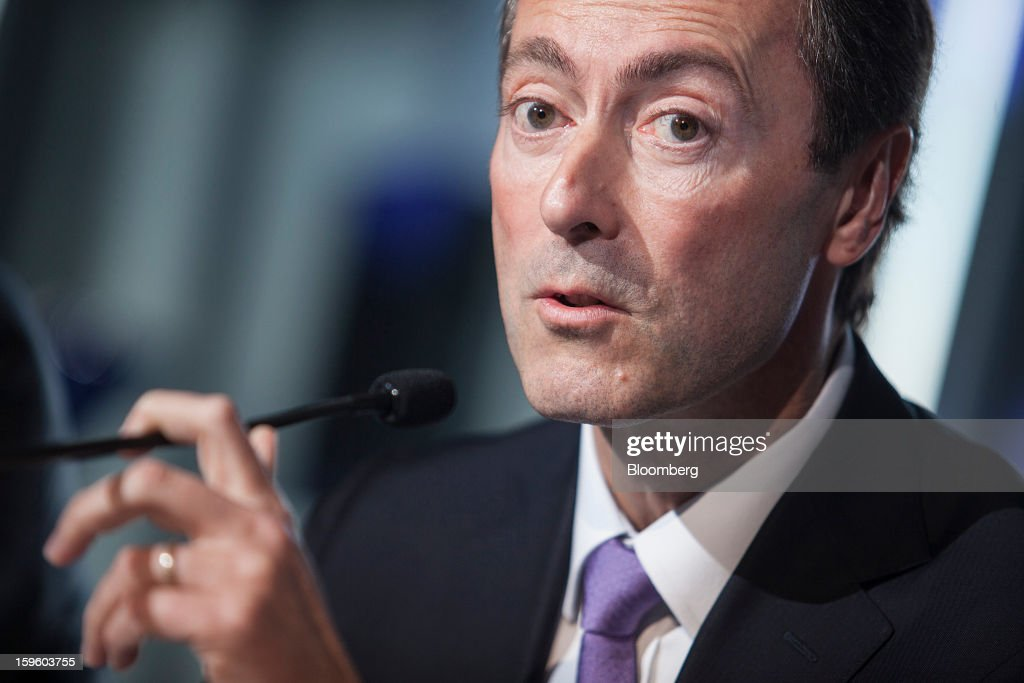 Fabrice Bregier, chief executive officer of Airbus SAS, speaks during a news conference in Colomiers, France, on Thursday, Jan. 17, 2013. Bregier said he's sticking with a goal of flying the A350 jet mid-year and that it represents 'a lower risk approach' than the Boeing Co. 787 grounded by U.S. regulators yesterday. Photographer: Balint Porneczi/Bloomberg via Getty Images