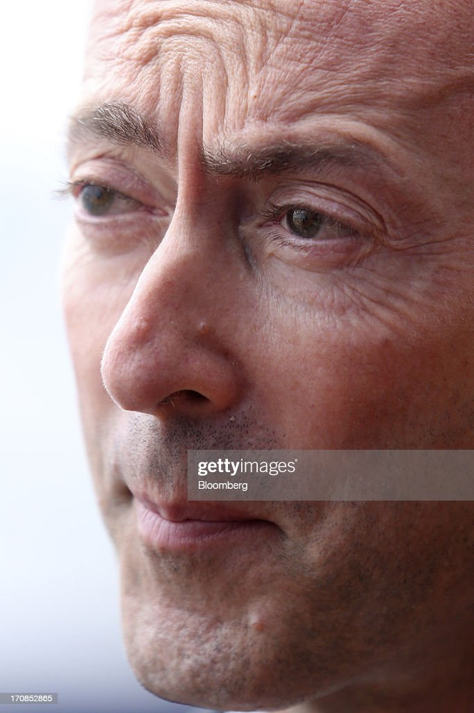<a gi-track='captionPersonalityLinkClicked' href=/galleries/search?phrase=Fabrice+Bregier&family=editorial&specificpeople=2129650 ng-click='$event.stopPropagation()'>Fabrice Bregier</a>, chief executive officer of Airbus SAS, speaks during a Bloomberg Television interview on the first day of the Paris Air Show in Paris, France, on Monday, June 17, 2013. The 50th International Paris Air Show is the world's largest aviation and space industry show, and takes place at Le Bourget airport June 17-23. Photographer: Chris Ratcliffe/Bloomberg via Getty Images