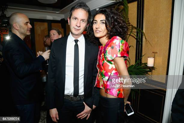 Fabrice Brovelli and Brune Buonoman attend the Mastermind Magazine launch dinner as part of Paris Fashion Week Womenswear Fall/Winter 2017/2018 at...