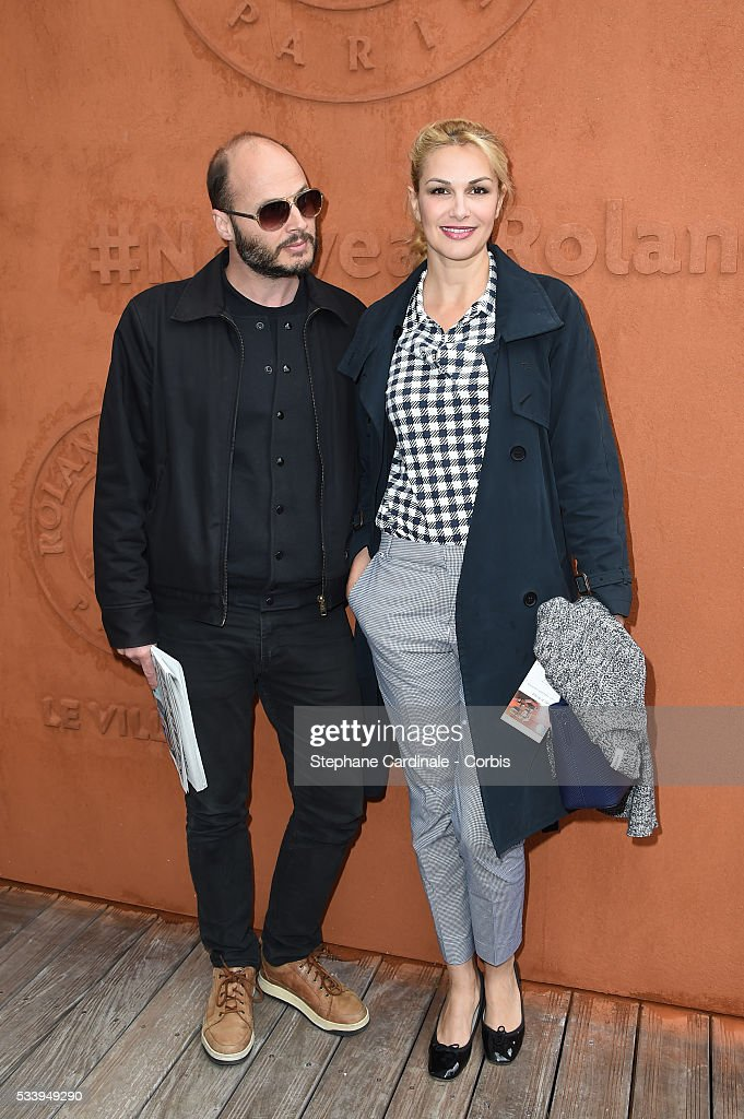 Fabrice Du Welz and Helena Noguera attend the 2016 French tennis Open day 3, at Roland Garros on May 24, 2016 in Paris, France.