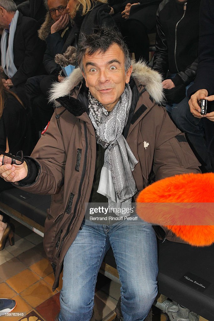 Fabrice Hyber attends the Lanvin Men Autumn / Winter 2013 show at Ecole Nationale Superieure Des Beaux-Arts as part of Paris Fashion Week on January 20, 2013 in Paris, France.