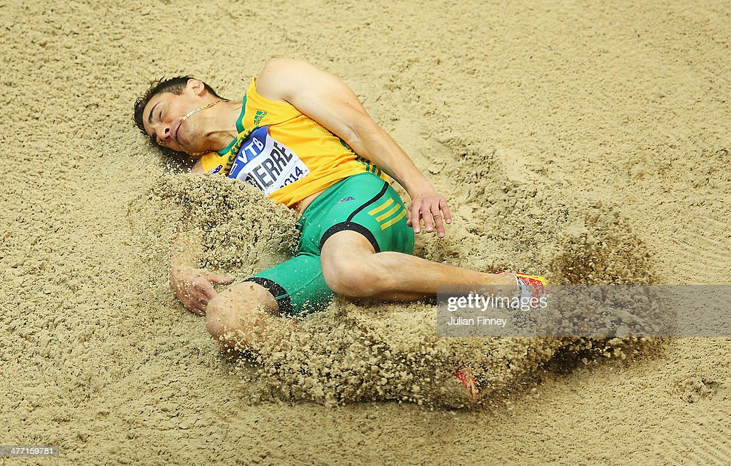 <a gi-track='captionPersonalityLinkClicked' href=/galleries/search?phrase=Fabrice+Lapierre&family=editorial&specificpeople=734111 ng-click='$event.stopPropagation()'>Fabrice Lapierre</a> of Australia competes in the Men's Long Jump qualification during day one of the IAAF World Indoor Championships at Ergo Arena on March 7, 2014 in Sopot, Poland.