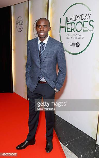 Fabrice Muamba attends the starstudded St John Ambulance Everyday Heroes celebration of the nation's life savers at the Royal Lancaster Hotel on...
