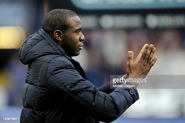 Fabrice Muamba of Bolton Wanderers is introduced to the crowd prior to the Barclays Premier League match between Bolton Wanderers and Tottenham...