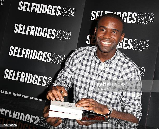 Fabrice Muamba signs copies of his book 'I'm Still Standing My Incredible Story' at Selfridges Trafford Centre at Selfridges on November 15 2012 in...