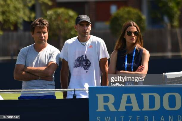 Fabrice Santoro is pictured at the AEGON Championships at Queen's Club London on June 16 2017