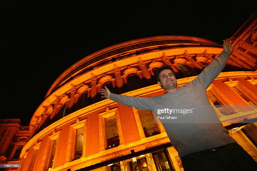 Fabrice Santoro of France poses outside the Royal Albert Hall after winning the ATP Champions Tour Final between Tim Henman of Great Britain and Fabrice Santoro of France during the Statoil Masters Tennis at Royal Albert Hall on December 9, 2012 in London, England.