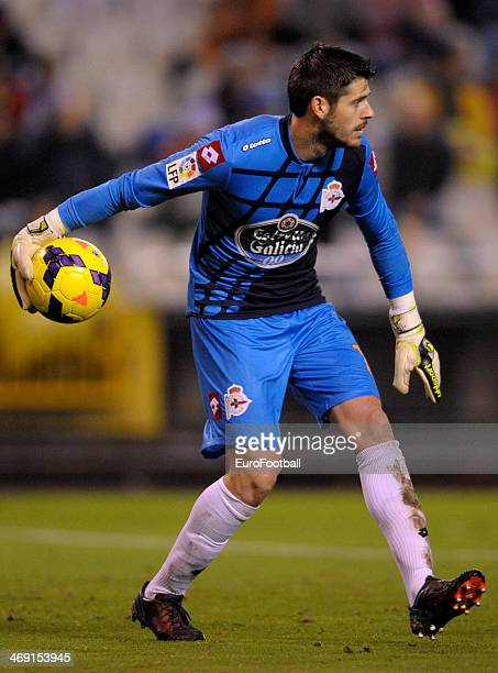 Fabricio Agosto of Deportivo de la Coruna in action during the Spanish second league football match between Deportivo de la Coruna and CE Sabadell at...