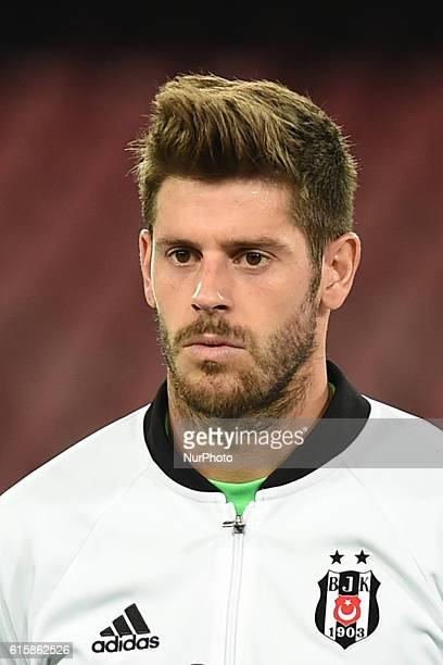 Fabricio Agosto Ramirez of Besiktas during the UEFA Champions League match between SSC Napoli and Besiktas at Stadio San Paolo Naples Italy on 19...
