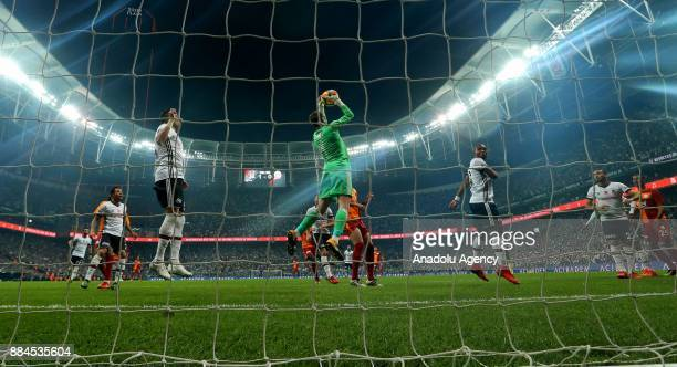 Fabricio Agosto Ramirez of Besiktas in action during the Turkish Super Lig match between Besiktas and Galatasaray at Vodafone Park in Istanbul Turkey...