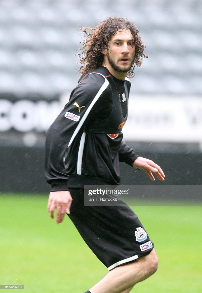 Fabricio Coloccini during a Newcastle United training session at St James' Park on April 25, in Newcastle upon Tyne, England.