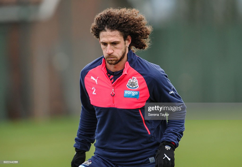 Fabricio Coloccini during the Newcastle United Training session at The Newcastle United Training Centre on December 22, 2015, in Newcastle upon Tyne, England.