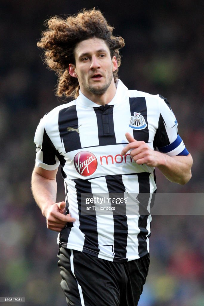 Fabricio Coloccini of Newcastle United during the Barclays Premier League match between Norwich City and Newcastle United at Carrow Road on January 12, 2013 in Norwich, England.