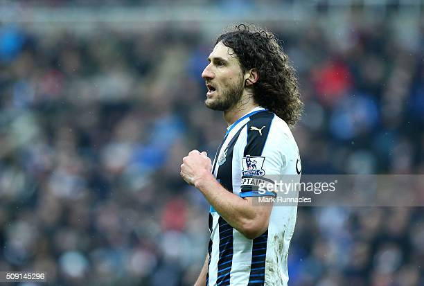 Fabricio Coloccini of Newcastle United in action during the Barclays Premier League match between Newcastle United FC and West Bromwich Albion FC at...