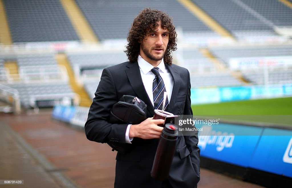 Fabricio Coloccini of Newcastle United is seen on arrival at the stadium prior to the Barclays Premier League match between Newcastle United and West Bromwich Albion at St James' Park on February 6, 2016 in Newcastle upon Tyne, England.