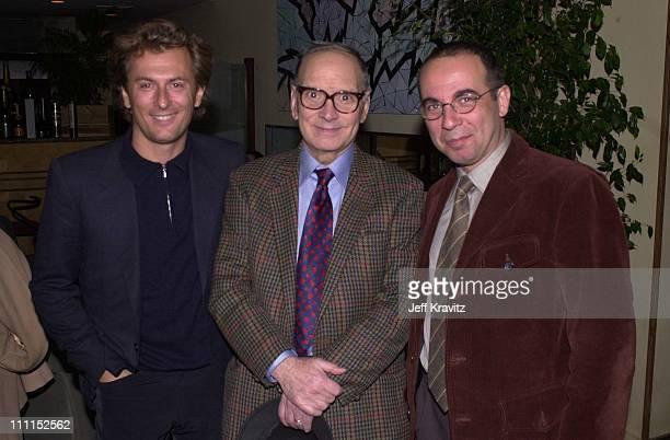 Fabricio Ennio Morricone Giuseppe Tornatore during Italian Film Fest Panel in Beverly Hills California United States