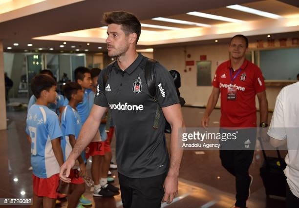 Fabricio of Besiktas arrives at stadium before the 2017 International soccer match between Schalke 04 and Besiktas at Zhuhai Sports Centre Stadium on...