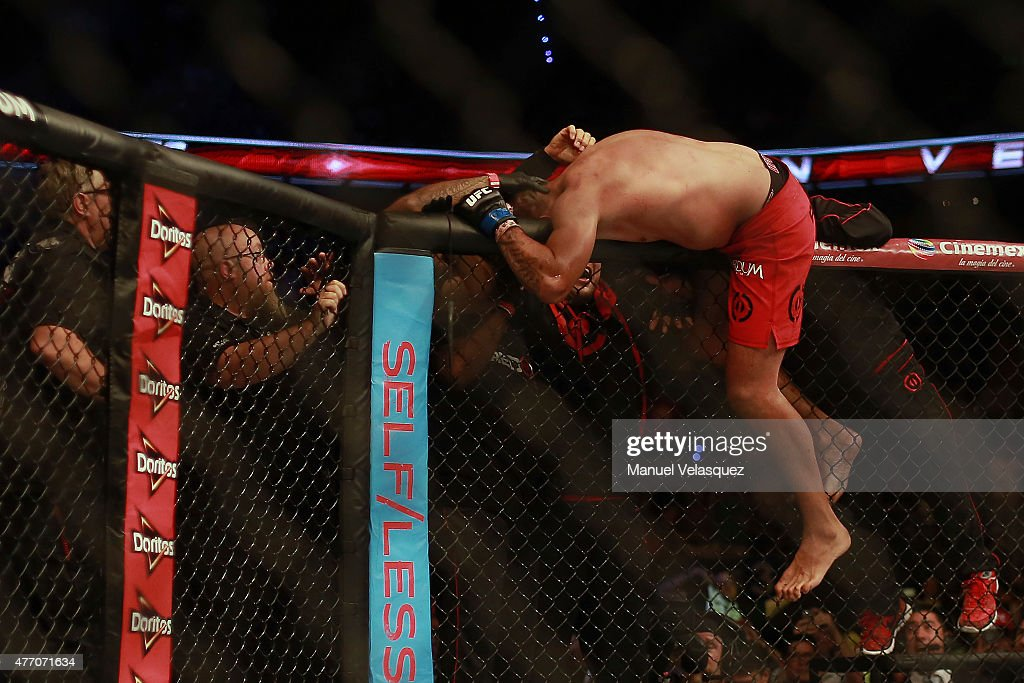 Fabricio Werdum celebrates his victory after a UFC Heavyweight Championship Fight between Cain Velasquez and Fabricio Werdum at Arena Ciudad de Mexico on June 13, 2015 in Mexico City, Mexico.