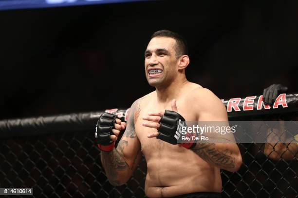 Fabricio Werdum stands in the Octagon before facing Alistair Overeem during the UFC 213 event at TMobile Arena on July 9 2017 in Las Vegas Nevada