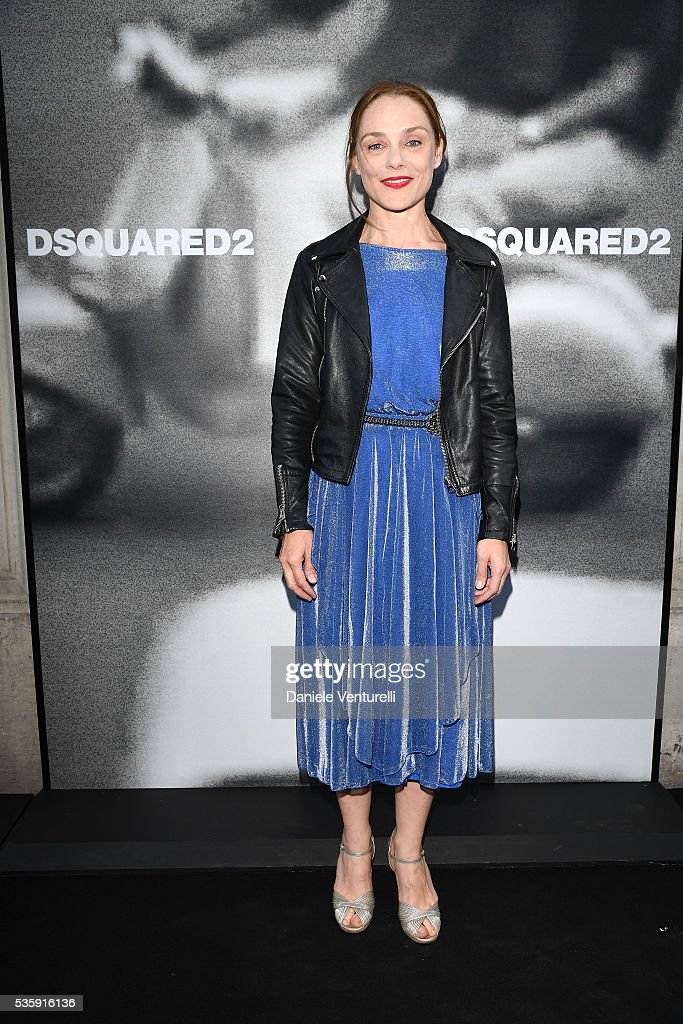 Fabrizia Sacchi attends Dsquared2 in-store cocktail on May 30, 2016 in Rome, Italy.
