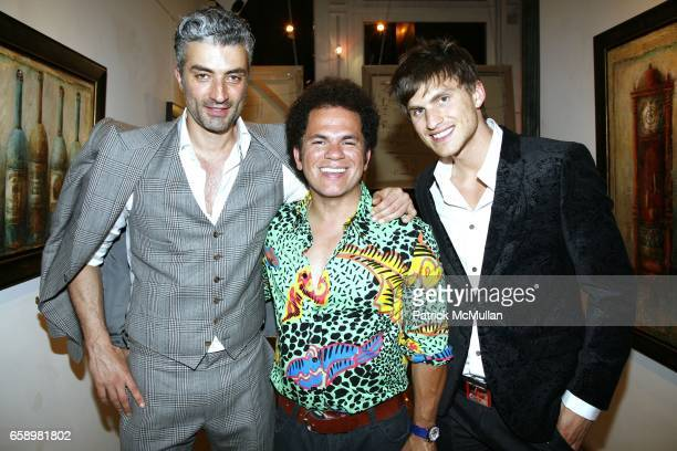 Fabrizio Brienza Romero Britto and Josh Edwards attend OPERA GALLERY New York will host an exclusive preview of beautiful works by DINA POLDOSKY...