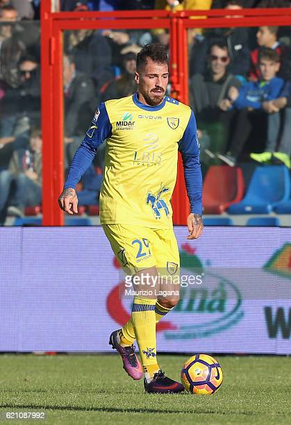 Fabrizio Cacciatore of Chievo during the Serie A match between FC Crotone and AC ChievoVerona at Stadio Comunale Ezio Scida on October 30 2016 in...