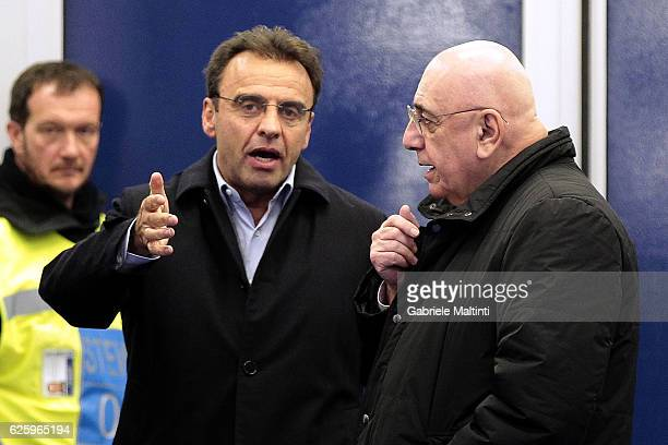 Fabrizio Corsi president of Empoli FC and Adriano Galliani Ceo of AC Milan during the Serie A match between Empoli FC and AC Milan at Stadio Carlo...