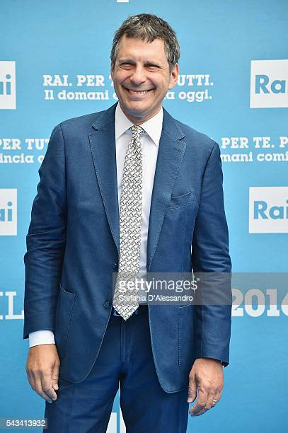 Fabrizio Frizzi attends Rai Show Schedule Presentation In Milan on June 28 2016 in Milan Italy