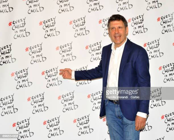 Fabrizio Frizzi attends the 'Every Child Is My Child' Presentation In Rome on June 16 2017 in Rome Italy