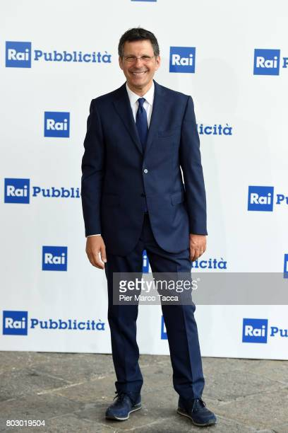 Fabrizio Frizzi attends the Rai show schedule presentation at Statale University of Milan on June 28 2017 in Milan Italy
