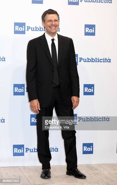 Fabrizio Frizzi attends the Rai Show Schedule Presentation In Rome on July 4 2017 in Rome Italy