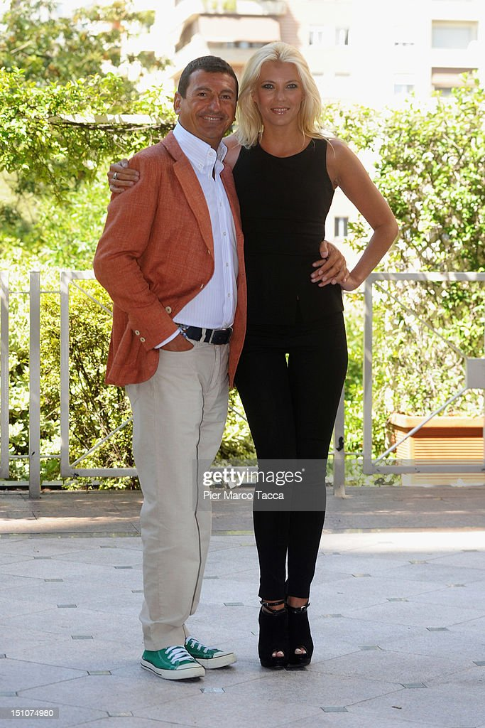 Fabrizio Gatta and Eleonora Daniele attend RAI 1 TV programmes presentation at Hotel Westin Palace on August 31, 2012 in Milan, Italy.
