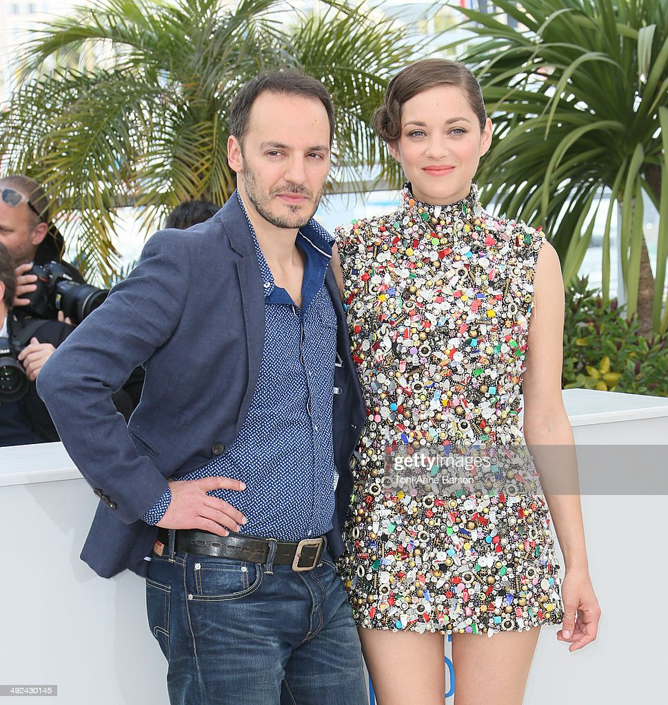 Fabrizio Rongione and Marion Cotillard attend the 'Two Days, One Night' photocall at the 67th Annual Cannes Film Festival on May 20, 2014 in Cannes, France.