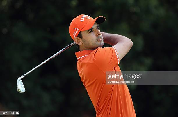 Fabrizio Zanotti of Paraguay hits his teeshot on the third hole during the third round of the 72nd Open d'Italia at Golf Club Milano on September 19...