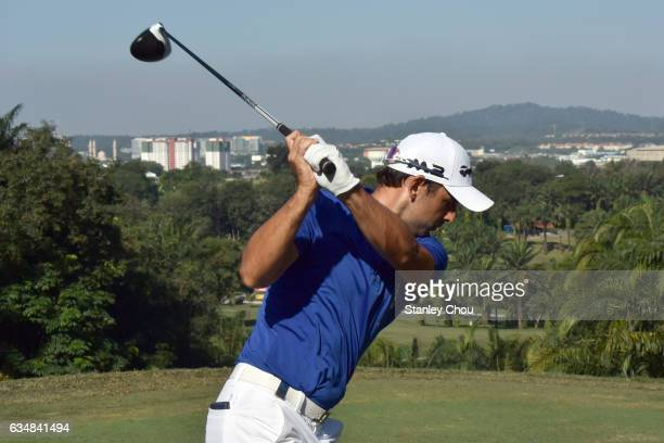 Fabrizio Zanotti of Paraguay in action during Day Four of the Maybank Championship Malaysia at Saujana Golf and Country Club on February 12 2017 in...