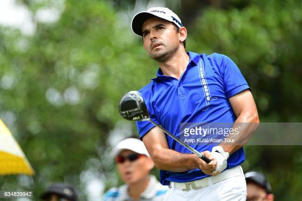 Fabrizio Zanotti of Paraguay pictured during final round of the Maybank Championship Malaysia at Saujana Golf and Country Club on February 12 2017 in...