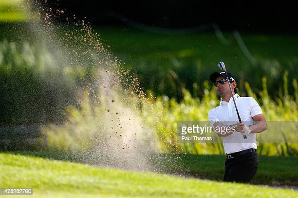 Fabrizio Zanotti of Paraguay plays a shot during the BMW International Open preview day at the Eichenried Golf Club on June 24 2015 in Munich Germany