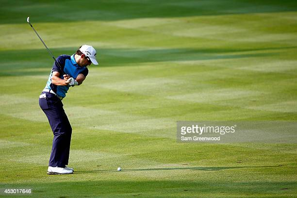 Fabrizio Zanotti of Paraguay plays a shot on the tenth fairway during the second round of the World Golf ChampionshipsBridgestone Invitational at...