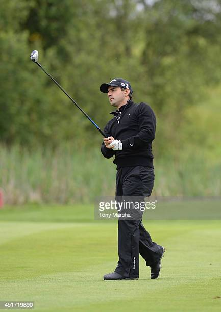 Fabrizio Zanotti of Paraguay plays his second shot on the 3rd fairway during the Alstom Open de France Day Three at Le Golf National on July 5 2014...