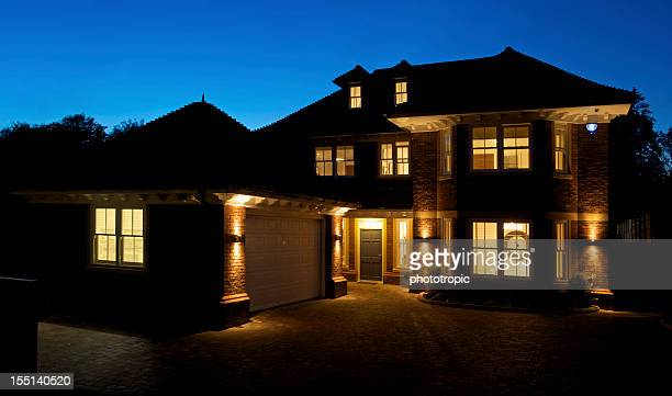Fabulous new home at night