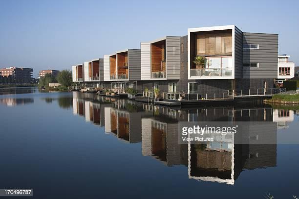 Facade across water Periscope Houses Rotterdam Netherlands Architect Joke Vos Architecten 2006