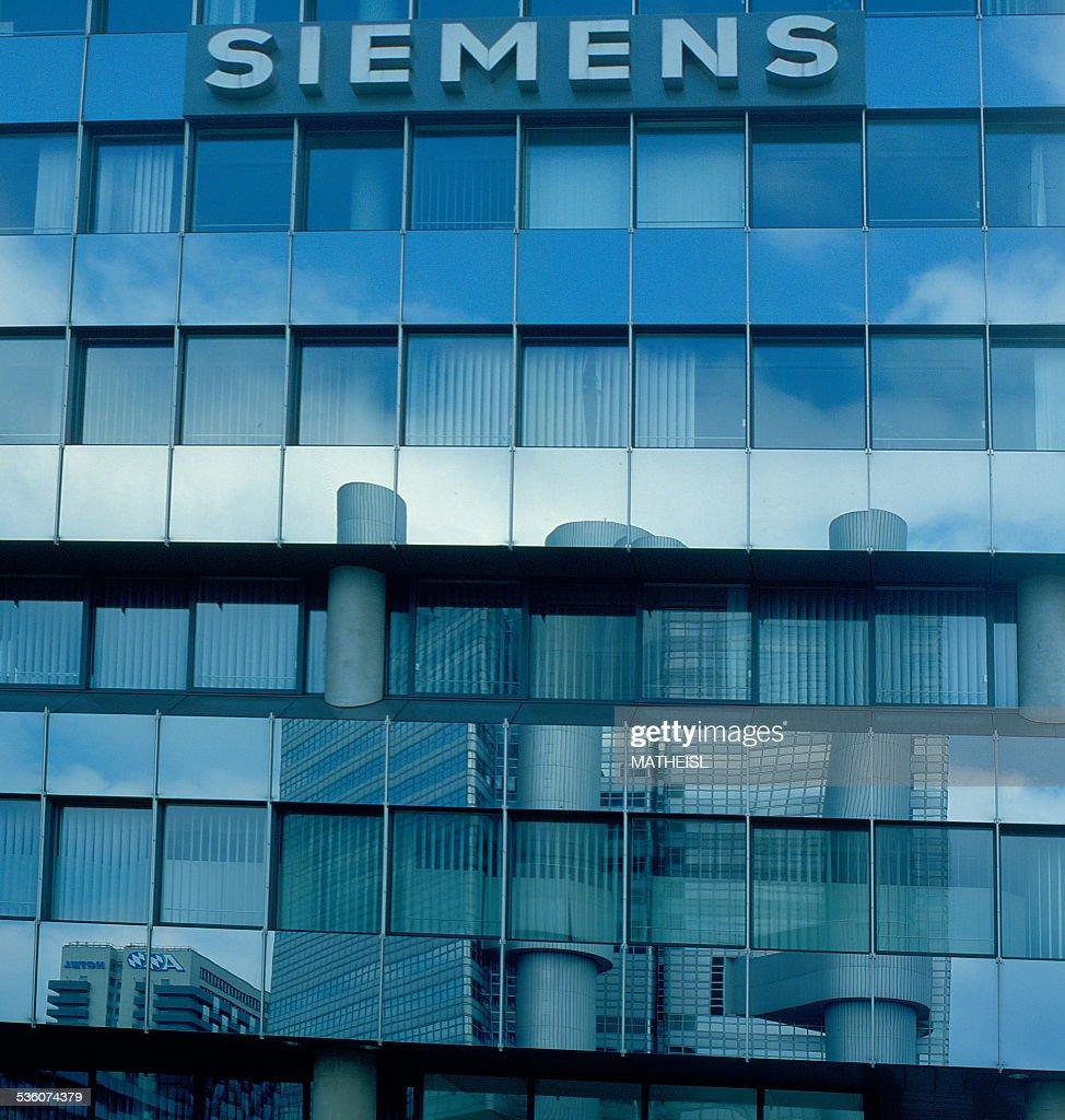Facade and Logo of Siemens Company Munich Bavaria Germany Europe