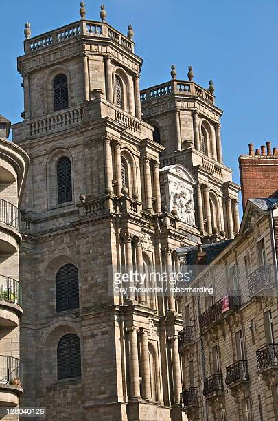 Facade, cathedral St. Pierre,built in 1844, old town, Rennes, Brittany, France, Europe