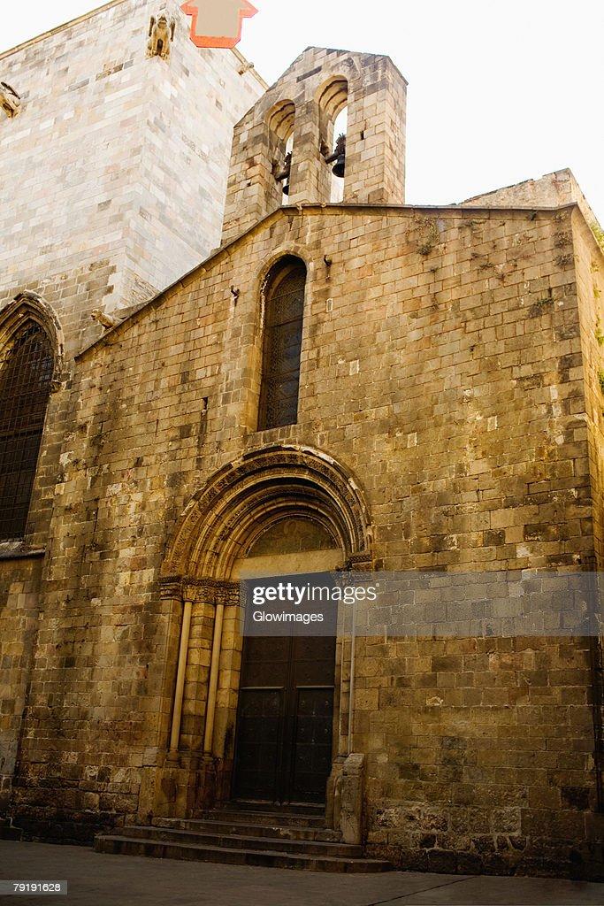 Facade of a building, Barcelona, Spain : Stock Photo
