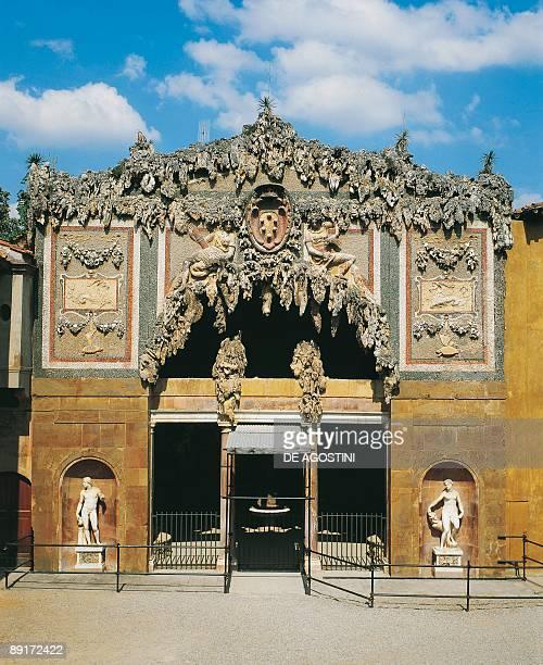 Facade of a building Buontalenti Cave Boboli Gardens Florence Tuscany Italy