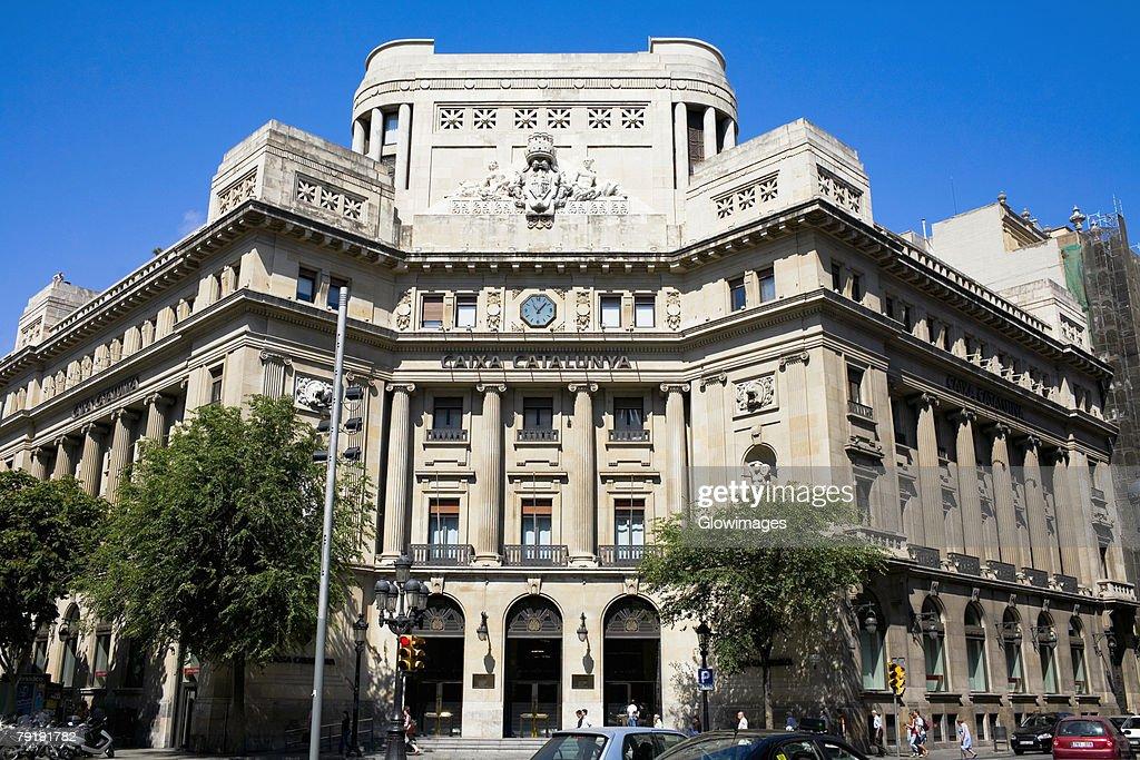 Facade of a building, La Pedrera, Barcelona, Spain : Foto de stock