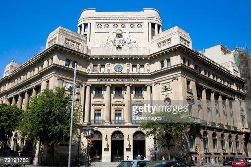 Facade of a building, La Pedrera, Barcelona, Spain : Stock Photo